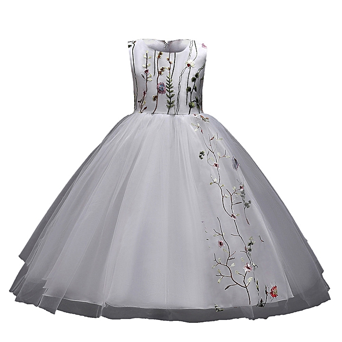 a073ce47c4e4 2019 Kids Lace Baby Girl Princess Bridesmaid Pageant Tutu Tulle Gown Party Wedding  Dress Musiccool ...