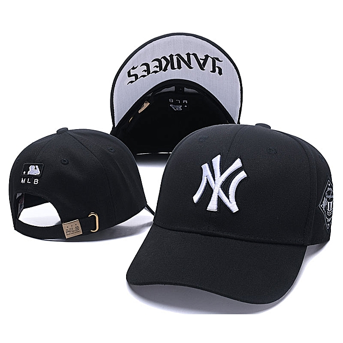Fashion Fashion NY Designer Baseball Face Cap Hat- Black  ea27db09668