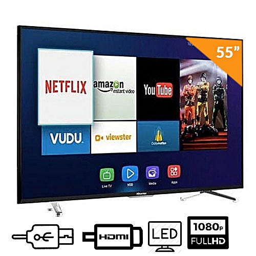 55 INCH SMART LED FULL HD TV + FREE WALL BRACKET