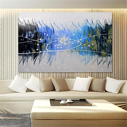 Abstract Large Art Oil Painting Hand Painted Canvas Print Wall Home Decor Framed