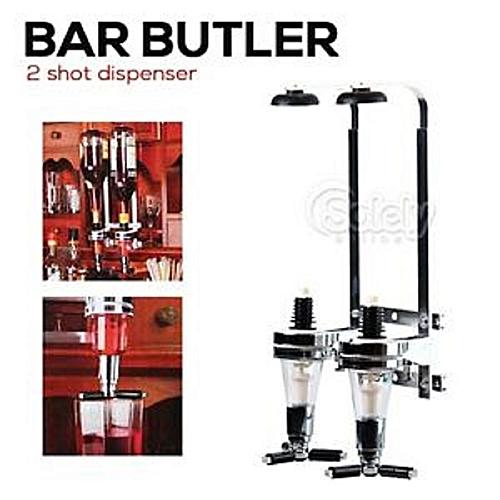 2 Bottles Wine Alcohol Dispenser Rack Liquor Drinks Wall Bar Mounted