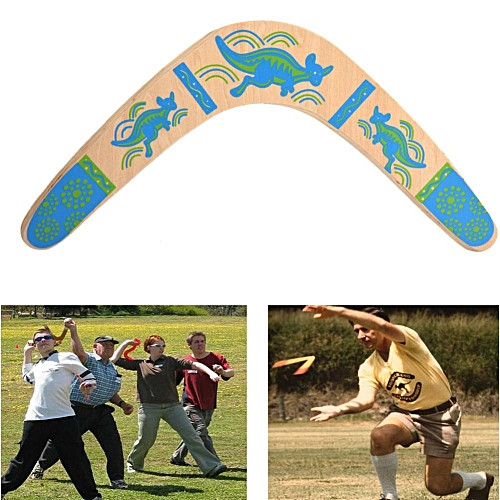 New Outdoor Wooden Classic V Shape Returning Boomerang Frisbee Flying Saucer Toys