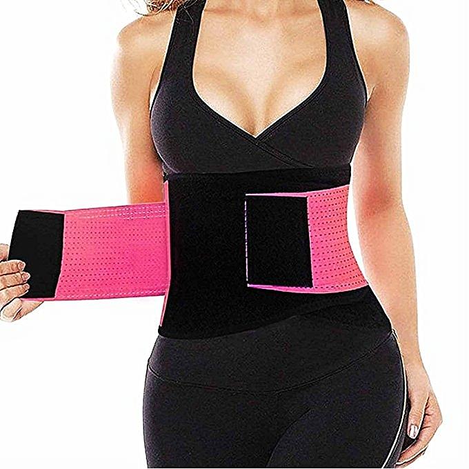 c971fefe499 ... Waist Trainer Belt For Women Waist Cincher Trimmer Slimming Body Shaper  Belt -Adjustable Sport Girdle ...