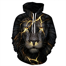 a7150b2744ae Unisex Long Sleeve Lightning Lion 3D Printed Hooded Hoodies Sweatshirts  PHMWY3D068