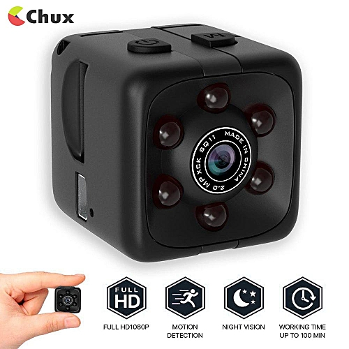 Mini Hidden Camera 1080P Portable Cube Mini Security Camera USB Cam With Night Vision/Motion Detection For Home And Office Support TF Card Car DVR Dash Camera BDZ