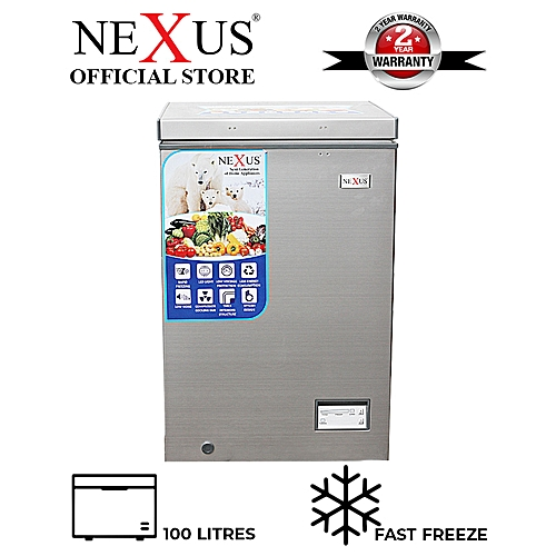 100 Litres Chest Freezer NX-150H- Silver