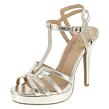 a4e211658806 Women  039 s Fancy Strap Sandal - Silver