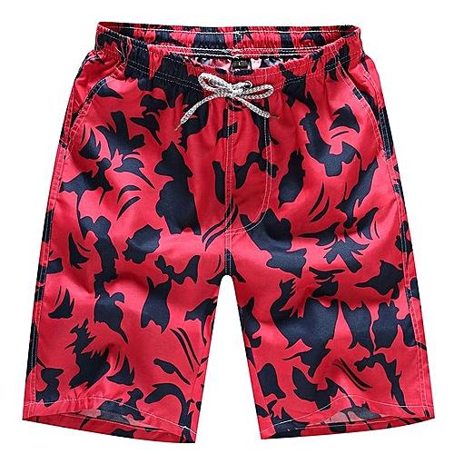 9c5127ab77 Fashion Men's Beach Shorts Swimwear Pants Swimming Surf Board Shorts Casual Swim  Shorts Red