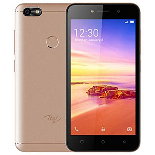 """A32F 5"""" Screen, Android 8.1, 8GB ROM + 1GB RAM, 5MP + 2MP Camera With Front Flash, Figerprint, Dual SIM Smartphone - Gold And Free Case"""