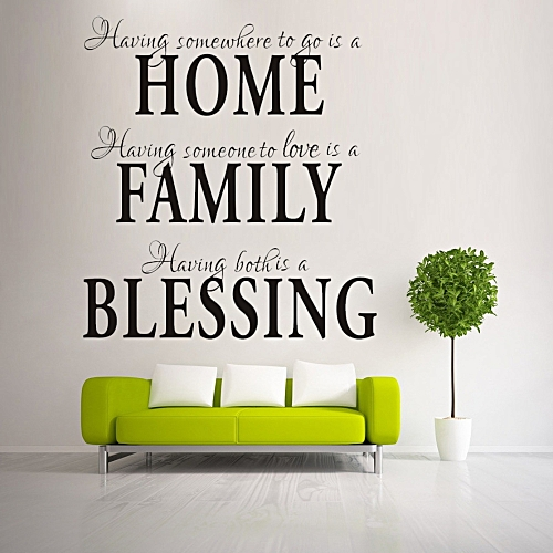 generic home family blessing english quote wall sticker jumia com ng