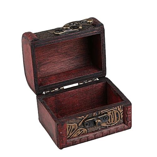 Vintage Personal Jewelry Display Box Necklace Bracelet Rings Storage Organizer Wood