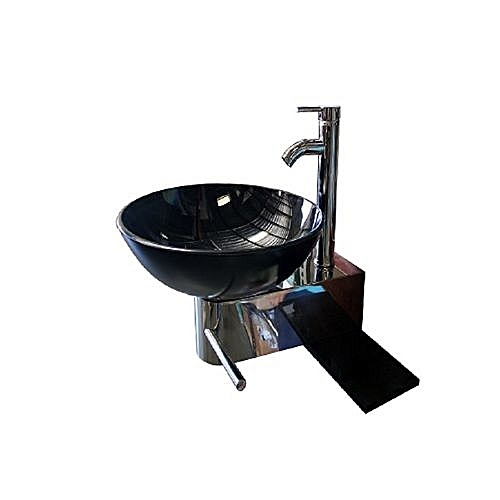 Wall Hanging Glass Wash Hand Basin