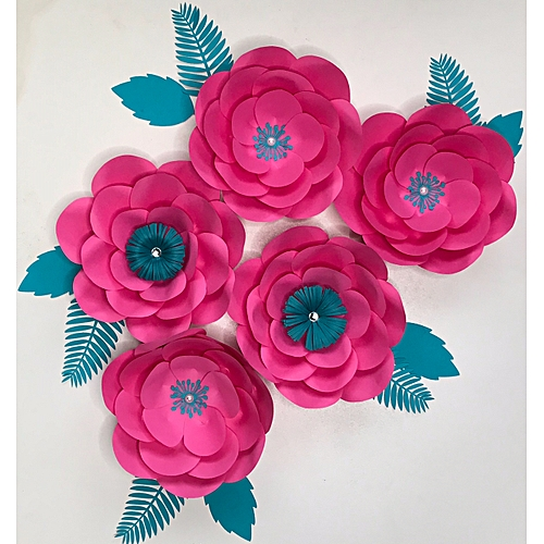 Paper Flower Pink Set