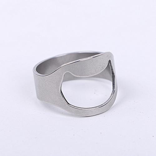Stainless Steel Creative Ring Beer Bottle Opener Kitchen Gadget - Platinum
