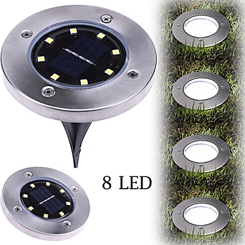Solar Power Buried Light Under Ground Lamp Outdoor Path Way Garden Decking