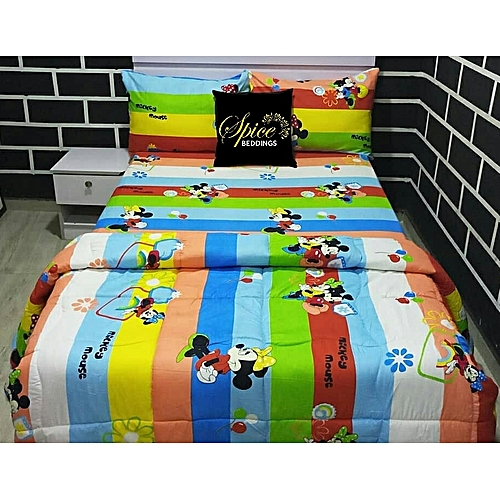Children / Kiddies Bedsheets With Two Pillow Cases
