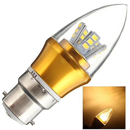 6XLED Light Bulb B22 6W Energy Saving 10W 2835 SMD LED Chandelier Candle Light Bulb Lamp Non Dimmable 85-265V Warm White