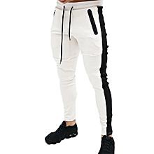 a395fc981e 2019 Men  039 s Fashion Slim Sports Stitching Drawstring Open Bag Design  Men