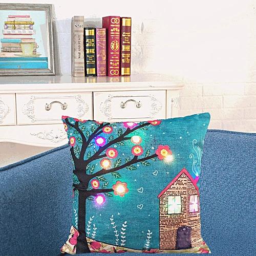 Fashion The New Color Lights Christmas Pillow LED Lights Pillow Creative Printing LinenZ