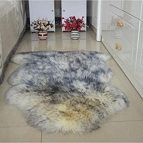 SHEEPSKIN RUG - GREY COLOR EXTRA LONG WOOL