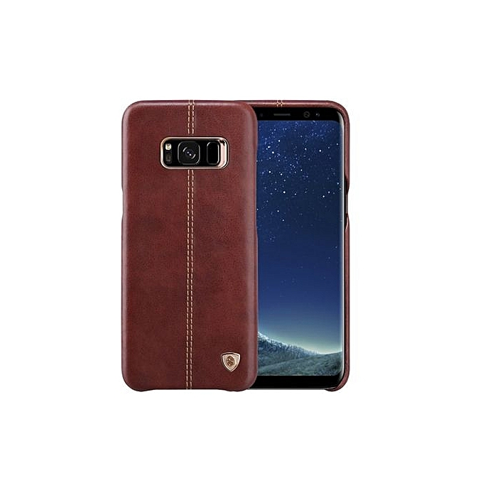 new product 61489 a3061 Englon Full Leather Cover For Samsung Galaxy S8+- Brown