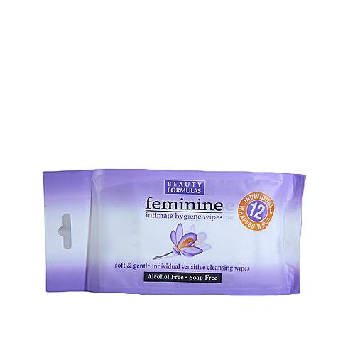 Feminine Intimate Hygiene Wipes X 12