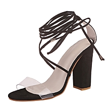 cab084effc Technologg Shoes Women Ladies Sandals Cross Strap Super High Heels Party  Ankle Square Heel Shoes-
