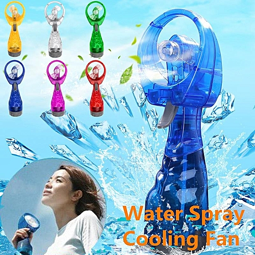 Protable Mini Water Spray Cooling Fan Hand Held Mist Beach Hiking Camp Travel