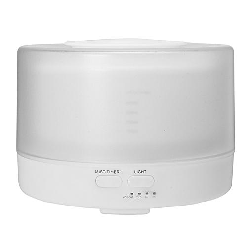 EIV 500ML Aroma Essential Ultrasonic Diffuser Remote Control Air Humidifier LED Light White EU Plug
