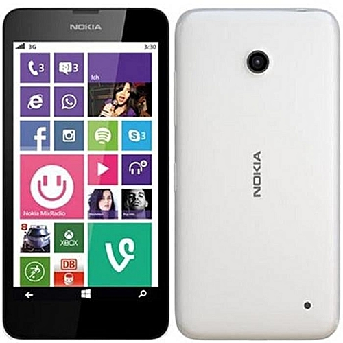 "(WHITE)Nokia Lumia 635 Windows Phone 4.5"" Quad Core 1.2GHz 8G ROM 5.0MP WIFI GPS 4G LTE Smartphone"