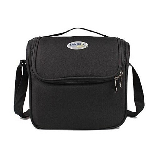 Insulated Lunch Bag, Plain Black