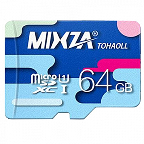 MIXZA TOHAOLL Colorful Series 64GB Micro SD Memory Card Storage Device-COLORMIX