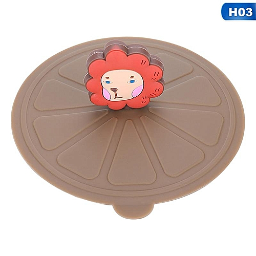 Eleganya 1 PC Cartoon Lovely Cup Cover Fine Silicone Animal Shape Cup Lid (without Cup)