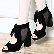 eac22b54b4 Sandals Female Fish Head In Summer 2018 With New High-heeled Rough With Ms.
