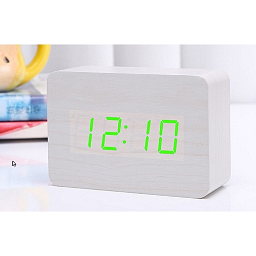 LED Wood Clock Voice-activated Electronic Alarm Clock.