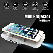Mini Mobile Projector Home Theater Cinema HDMI DLP LED For IPhone 6s 7 8 Plus X