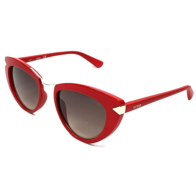 Guess 7498 66F Women's Red Frame Sunglasses