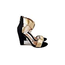 b1a1c2ff9f0d Gold Block Heel Sandals