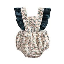 64a6bd3d22af3a Flower Summer Baby Girls Romper Cotton Newborn Baby Clothes