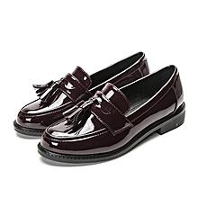 Used, Black -British Wind Female Spring College 35-40 Leather Shoes Le Fu Single Shoe Female for sale  Nigeria