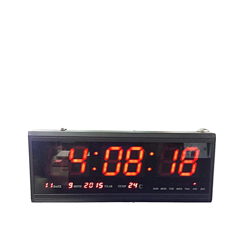 6 DIGITS Time, Date & Temp LED Digital Clock - Red