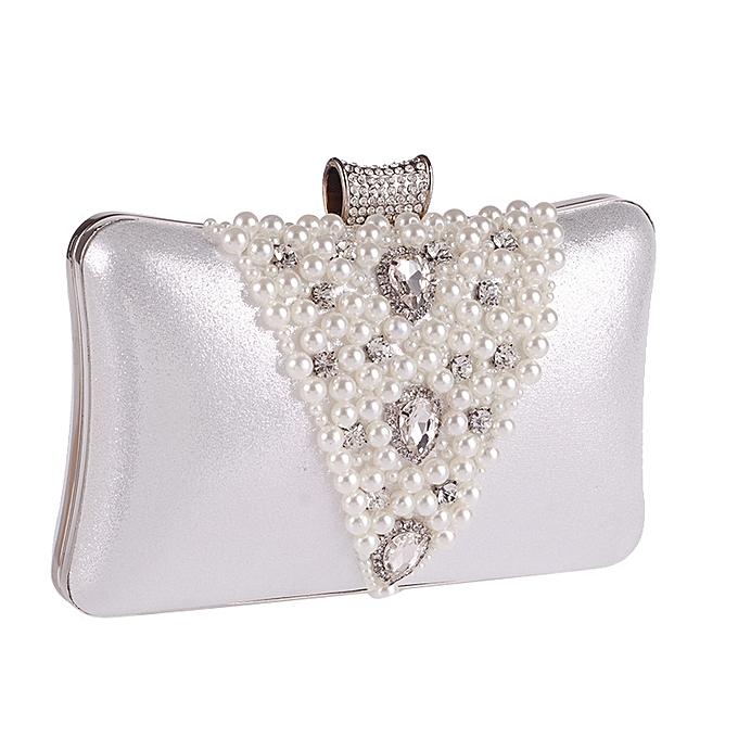 5cb4e9c624 Popular Shorts & Leggings Hot Sale Cocktail Party Women Elegant Silver Pearl  Evening Party Bag Clutch