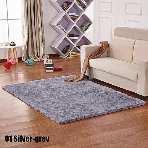 Soft Shaggy Area Round Rug Living Room Carpet 50*80cm