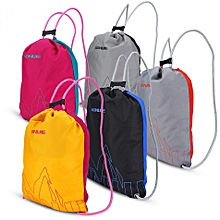 Waterproof Drawstring Bag Women Men Running Sports Bag Backpack For Outdoor Hiking Camping Travel Bag SoftBack( )( Green With Rose Red) for sale  Nigeria