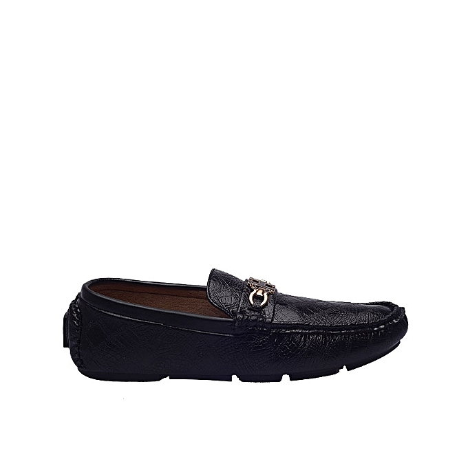 746e2f1555666f Depally Men s Leather Shoe With Chain Details - Black