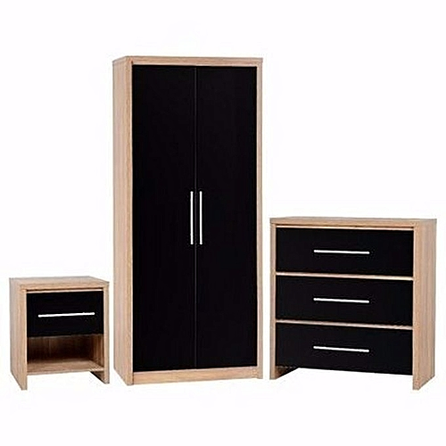 Bricktown Wardrobe With 2 Bed Side Storage (Delivery Within Lagos Only)