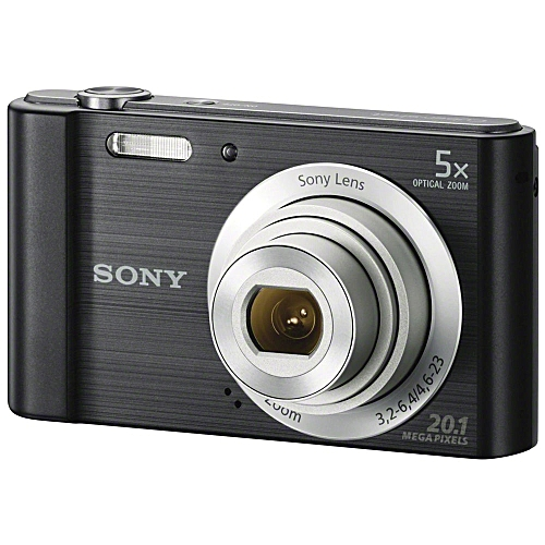 Sony Cyber-shot DSC-W800 Digital Camera 20.1MP With Pouch (Black)