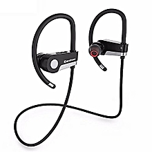C6 Wireless Stereo Earbuds Headset With Bluetooth Microphone - Black / White