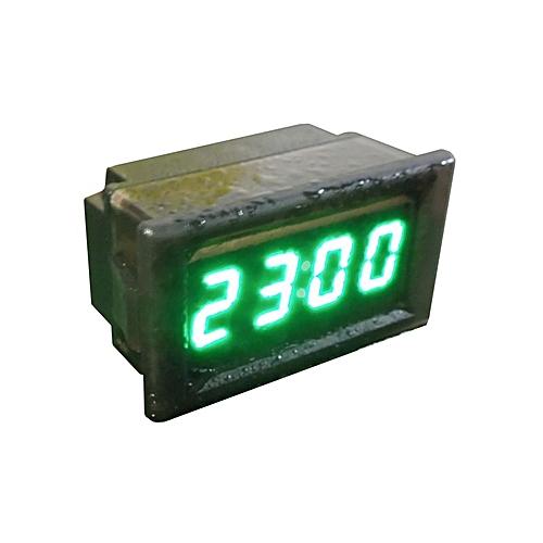 Waterproof Car Motorcycle 12V/24V Dashboard Digital LED Display Clock Green-Black