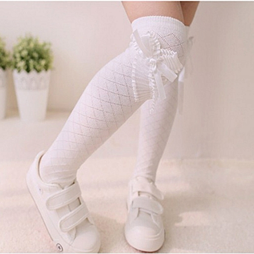 082551be3 Generic Girls Socks Kids Tube Thigh Socks Baby Crochet Knee High Socks - White